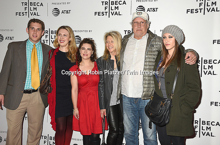 Chevy Chase and wife Jayni Chase and family attend the Dog Years&quot; screening at the Tribeca Film Festival on April 22, 2017 at Cinepolis Chelsea in New York, New York, USA.<br /> <br /> photo by Robin Platzer/Twin Images<br />  <br /> phone number 212-935-0770