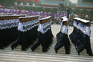 Beijing, China. October 1st, 1984. This huge parade is for the celebration of the 35th Anniversary of the Chinese Revolution. China Navy was heavily represented.