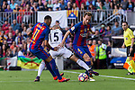FC Barcelona's Neymar Santos Jr Ivan Rakitic and Deportivo de La Coru?a's Pedro Mosquera during the La Liga match between Futbol Club Barcelona and Deportivo de la Coruna at Camp Nou Stadium Spain. October 15, 2016. (ALTERPHOTOS/Rodrigo Jimenez)