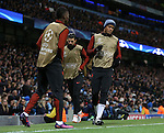 Vincent Kompany of Manchester City warms up as a substitute during the Champions League Group C match at the Etihad Stadium, Manchester. Picture date: November 1st, 2016. Pic Simon Bellis/Sportimage
