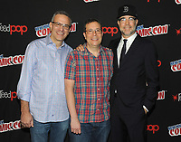 NEW YORK, NY - OCTOBER 07: Executive Producers Todd Slavkin, Darren Swimmer and Matt Hastings attend the press day at New York ComicCon at the Theater at Madison Square Garden on October 7, 2017 in New York City. <br /> CAP/MPI/JP<br /> &copy;JP/MPI/Capital Pictures