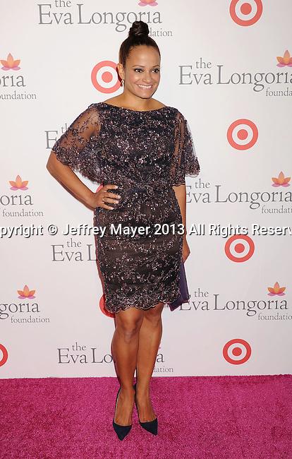 HOLLYWOOD, CA- SEPTEMBER 28: Actress Judy Reyes arrives at the Eva Longoria Foundation Dinner at Beso restaurant on September 28, 2013 in Hollywood, California.