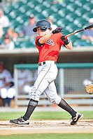 Gordon Beckham swings at pitch at Smokies Park May 21, 2009  in Sevierville, TN (Photo by Tony Farlow/ Four Seam Images)