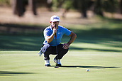 9th February 2018, Lake Karrinyup Country Club, Karrinyup, Australia; ISPS HANDA World Super 6 Perth golf, second round; Wade Ormsby (AUS SA) lines up his putt