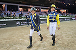 Jockey and riders walk the course before the Hong Kong Jockey Club Race of the Riders, part of the Longines Masters of Hong Kong on 10 February 2017 at the Asia World Expo in Hong Kong, China. Photo by Juan Serrano / Power Sport Images