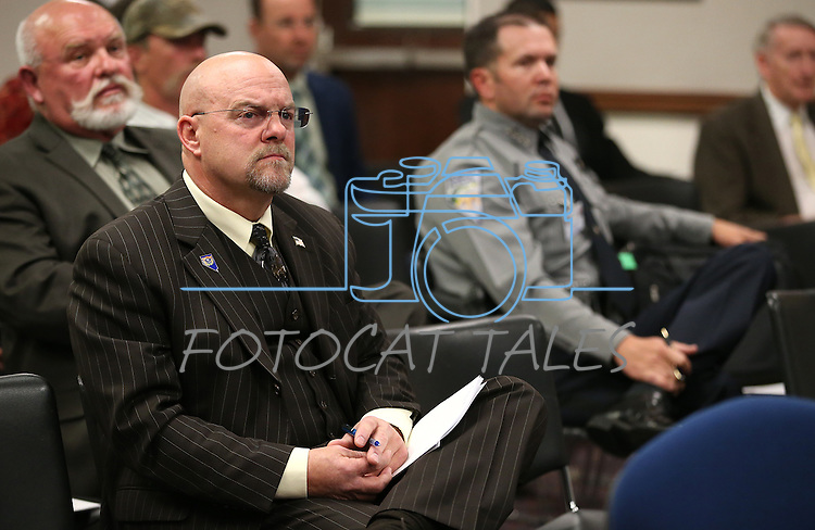 Nevada Assemblyman Ira Hansen, R-Sparks, listens to a commitee hearing at the Legislative Building in Carson City, Nev., on Thursday, April 30, 2015. <br /> Photo by Cathleen Allison