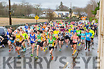 The large field of runners take off at the start of the  Beaufort 10k on New Years day