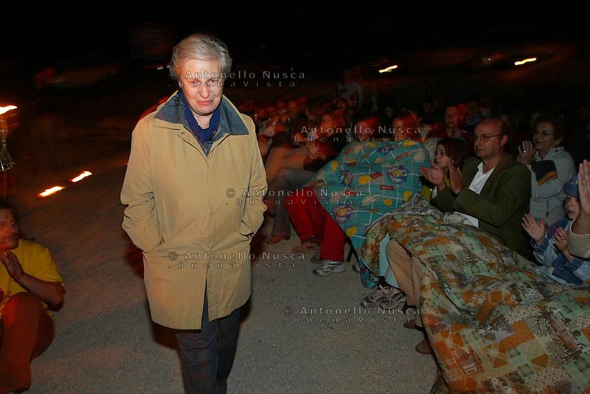 Portella della Ginestra, luglio 2005, Rita borsellino alla 48 ore contro la mafia all'Agriturismo Placido Rizzotto.