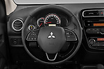 Car pictures of steering wheel view of a 2020 Mitsubishi Space-Star Red-Line-Edition 5 Door Hatchback Steering Wheel