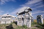 Car Art Reserve, Carhenge, Nebraska, created by artist Geoff Sandhurst...