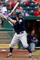 Jamie Romak (26) of the Northwest Arkansas Naturals at bat during a game against the Springfield Cardinals at Hammons Field on July 31, 2011 in Springfield, Missouri. Northwest Arkansas defeated Springfield 9-1. (David Welker / Four Seam Images)