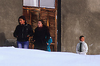 Curious villagers, Vardahovit, Armenia, February 2014