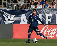 East Hartford, Connecticut - Sunday July 29, 2018:  2018 Tournament of Nations match between the women's national teams of Japan (JPN) and Brazil (BRA). Brazil (yellow/blue) defeated Japan (blue), 2-1, at Pratt & Whitney Stadium at Rentschler Field.
