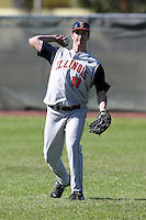 February 28, 2010:  Second Baseman Pete Cappetta (11) of Illinois Fighting Illini during the Big East/Big 10 Challenge at Raymond Naimoli Complex in St. Petersburg, FL.  Photo By Mike Janes/Four Seam Images