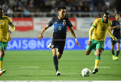Kento Hashimoto (JPN), Deolin Mekoa (RSA),<br /> JUNE 29, 2016 - Football / Soccer :<br /> Kirin Challenge Cup 2016 match between U-23 Japan 4-1 U-23 South Africa at Matsumotodaira Park Stadium Alwin in Nagano, Japan. (Photo by Takamoto Tokuhara/AFLO)