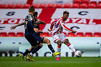 4th July 2020; Bet365 Stadium, Stoke, Staffordshire, England; English Championship Football, Stoke City versus Barnsley; Tyrese Campbell of Stoke City takes a shot on goal