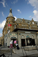 Haydarpasa train station with the ferry landing in the foreground, Istanbul, Turkey
