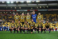 The Phoenix starting XI pose for a team photo before kickoff during the A-League football match between Wellington Phoenix and Perth Glory at Westpac Stadium, Wellington, New Zealand on Sunday, 16 August 2009. Photo: Dave Lintott / lintottphoto.co.nz