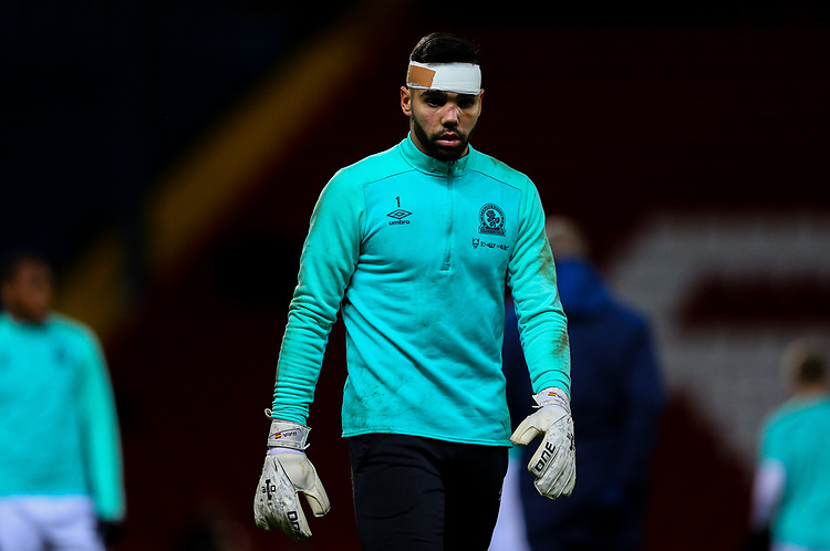 Blackburn Rovers' David Raya<br /> <br /> Photographer Alex Dodd/CameraSport<br /> <br /> Emirates FA Cup Third Round Replay - Blackburn Rovers v Newcastle United - Tuesday 15th January 2019 - Ewood Park - Blackburn<br />  <br /> World Copyright © 2019 CameraSport. All rights reserved. 43 Linden Ave. Countesthorpe. Leicester. England. LE8 5PG - Tel: +44 (0) 116 277 4147 - admin@camerasport.com - www.camerasport.com