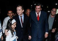 SAO PAULO, SP, 23 JULHO 2012 - ELEICOES 2012 - CELSO RUSSOMANO – Celso Russomano e Luiz Flacio Durso durante apoio de candidatura o recem-criado Partido Ecologico Nacional (PEN) a prefeitura de Sao Paulo na noite desta segunda-feira pelo presidente do PEN, o ex-deputado Adilson Barroso, no hotel Maksoud Plaza regiao da avenida paulista. FOTO: AMAURI NENH - BRAZIL PHOTO PRESS.