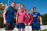 Kings MVP with Black Caps Matt Henry, George Worker and Tom Latham  at the Bert Sutcliffe Oval, Lincoln University, Christchurch, New Zealand. Wednesday 22 November 2017. Photo: John Davidson/www.bwmedia.co.nz