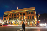 USA, Colorado, Aspen, the Hotel Jerome at night, Main Street