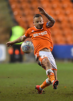 Blackpool's Jay Spearing<br /> <br /> Photographer Dave Howarth/CameraSport<br /> <br /> The EFL Sky Bet League One - Blackpool v Doncaster Rovers - Tuesday 12th March 2019 - Bloomfield Road - Blackpool<br /> <br /> World Copyright © 2019 CameraSport. All rights reserved. 43 Linden Ave. Countesthorpe. Leicester. England. LE8 5PG - Tel: +44 (0) 116 277 4147 - admin@camerasport.com - www.camerasport.com