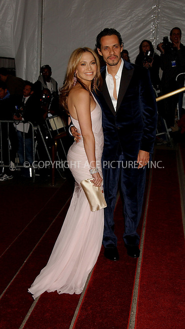 "WWW.ACEPIXS.COM . . . . . ....MAY 1 2006, New York City....JENNIFER LOPEZ AND MARC ANTHONY....The ""Anglomania"" themed Costume Gala at the Metropolitan Museum of Art on the Upper East Side of Manhattan.....Please byline: KRISTIN CALLAHAN - ACEPIXS.COM.. . . . . . ..Ace Pictures, Inc:  ..(212) 243-8787 or (646) 679 0430..e-mail: picturedesk@acepixs.com..web: http://www.acepixs.com"