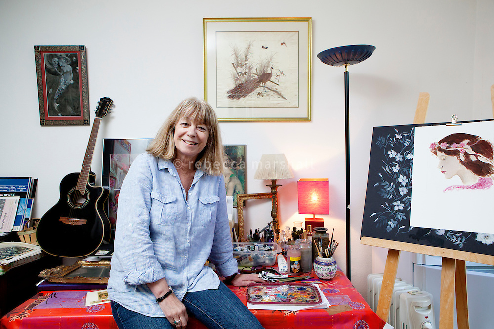 Sarah Bartlett, astrologer, poses for the photographer in the studio of her home, Mandelieu-la-Napoule, France, 03 May 2012