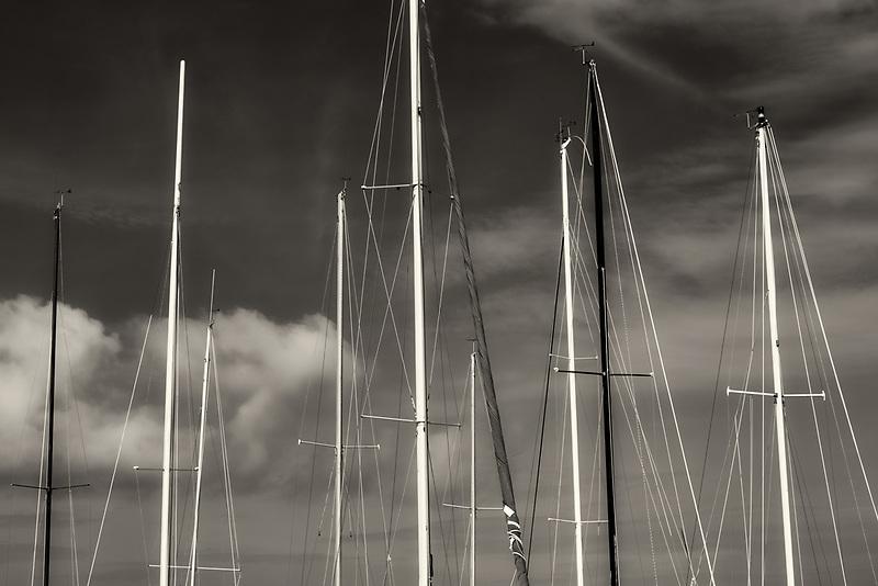 Sailboat masts. Honokohau Bay. Hawaii the big island