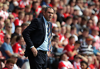 Swansea manager Paul Clement looks towards his away fans during the Premier League match between Southampton and Swansea City at the St Mary's Stadium, Southampton, England, UK. Saturday 12 August 2017
