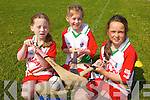 Enjoying the Kelloggs Hurling Cul Camps in Causeway on Friday were: Emma Dillane, Ella Foley and Rebecca Healy.