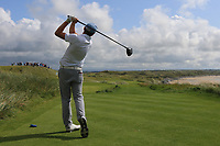 Robert Brazill (Naas) on the 11th tee during the Final of the AIG Irish Amateur Close Championship 2019 in Ballybunion Golf Club, Ballybunion, Co. Kerry on Wednesday 7th August 2019.<br /> <br /> Picture:  Thos Caffrey / www.golffile.ie<br /> <br /> All photos usage must carry mandatory copyright credit (© Golffile | Thos Caffrey)
