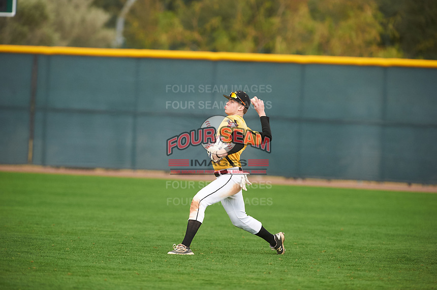 Daniel Erwin (2) of Lewis And Clark High School in Spokane, Washington during the Under Armour All-American Pre-Season Tournament presented by Baseball Factory on January 15, 2017 at Sloan Park in Mesa, Arizona.  (Zac Lucy/MJP/Four Seam Images)