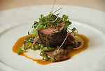 Minnesota, Twin Cities, Minneapolis-Saint Paul: Tim McKee's award winning La Belle Vie restaurant, 510 Groveland, Minneapolis.  Roast lamb entree..Photo mnqual233-75104..Photo copyright Lee Foster, www.fostertravel.com, 510-549-2202, lee@fostertravel.com.