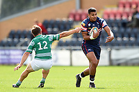 Joel Matavesi of Doncaster Knights in possession. Pre-season friendly match, between Doncaster Knights and Newcastle Falcons on August 25, 2018 at Castle Park in Doncaster, England. Photo by: Patrick Khachfe / Onside Images