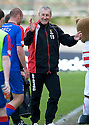 ::  CALEY MANAGER TERRY BUTCHER AT THE END OF THE GAME ::.14/05/2011  sct_jsp015_hamilton_v_ict  .Copyright  Pic : James Stewart.James Stewart Photography 19 Carronlea Drive, Falkirk. FK2 8DN      Vat Reg No. 607 6932 25.Telephone      : +44 (0)1324 570291 .Mobile              : +44 (0)7721 416997.E-mail  :  jim@jspa.co.uk.If you require further information then contact Jim Stewart on any of the numbers above.........