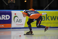 SCHAATSEN: LEEUWARDEN, 22-10-2016, Elfstedenhal,  KNSB Trainingswedstrijden, Sander Bosker, ©foto Martin de Jong