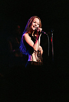 July 1993-  File Photo - Vanessa Paradis in concert at St-Denis Theatre in Montreal.