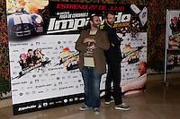 26.07.2012. Premier at Palafox Cinema in Madrid of the movie 'Impavido&acute;, directed by Carlos Theron and starring by Marta Torne, Selu Nieto, Nacho Vidal, Carolina Bona, Julian Villagran and Manolo Solo. In the image Carlos Theron and Julian Villagran (Alterphotos/Marta Gonzalez) /NortePhoto.com <br /> <br /> **CREDITO*OBLIGATORIO** *No*Venta*A*Terceros*<br /> *No*Sale*So*third* ***No*Se*Permite*Hacer Archivo***No*Sale*So*third*&Acirc;&copy;Imagenes*con derechos*de*autor&Acirc;&copy;todos*reservados*.