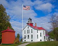 Leelanau County, Michigan: Grand Traverse Lighthouse (1858) in Leelanau State Park, Leelanau Peninsula.