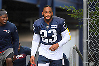 July 26, 2018: New England Patriots safety Patrick Chung (23) heads to practice at the New England Patriots training camp held on the practice fields at Gillette Stadium, in Foxborough, Massachusetts. Eric Canha/CSM