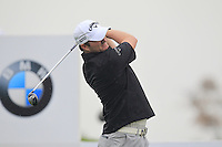 Marc Warren (SCO) tees off the 2nd tee during Thursday's Round 1 of the 2014 BMW Masters held at Lake Malaren, Shanghai, China 30th October 2014.<br /> Picture: Eoin Clarke www.golffile.ie