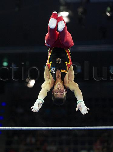 08 04 2011  Gymnastics Berlin 08 04 2011 European Championship euro  Final men bars Philipp Boy ger Gymnastics Artistic