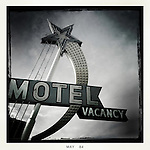 Star Motel a vintage motel sign located in downtown Las Vegas Nevada. May 17, 2014.