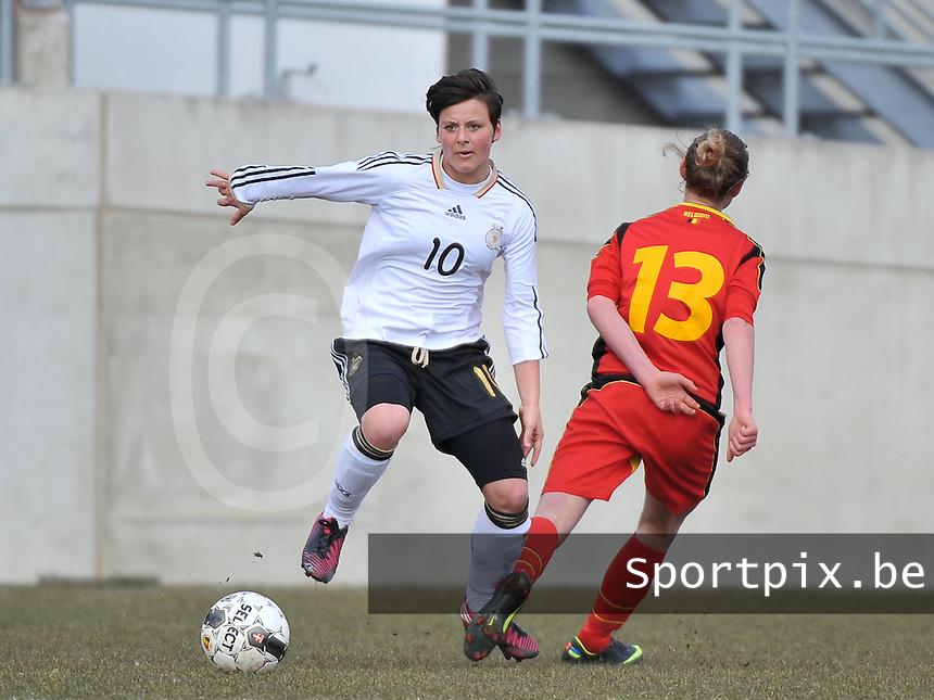 Belgie U17 - Duitsland U17 : Jasmin Sehan.foto DAVID CATRY / Vrouwenteam.be