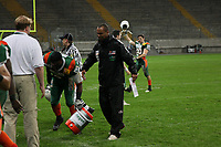 Head Coach Patrick Esume (Kiel) nach der obligatorischen Gatorade Dusche