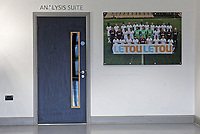 The entrance to the Analysis Suite during the Swansea City Training at The Fairwood Training Ground, Swansea, Wales, UK. Tuesday 05 December 2017
