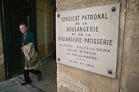 View of the entrance to the Paris-region bakers trade union offices in Paris, France, 5 January 2004. The Syndicat Patronal de la Boulangerie et de la Boulangerie-Patisserie organizes the prestigious annual Grand Prix de la Baguette.