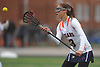 Emma LoPinto #13 of Manhasset receives a pass during a Nassau County varsity girls lacrosse game against Massapequa at Manhasset High School on Tuesday, March 27, 2018. Manhasset won by a score of 11-8.